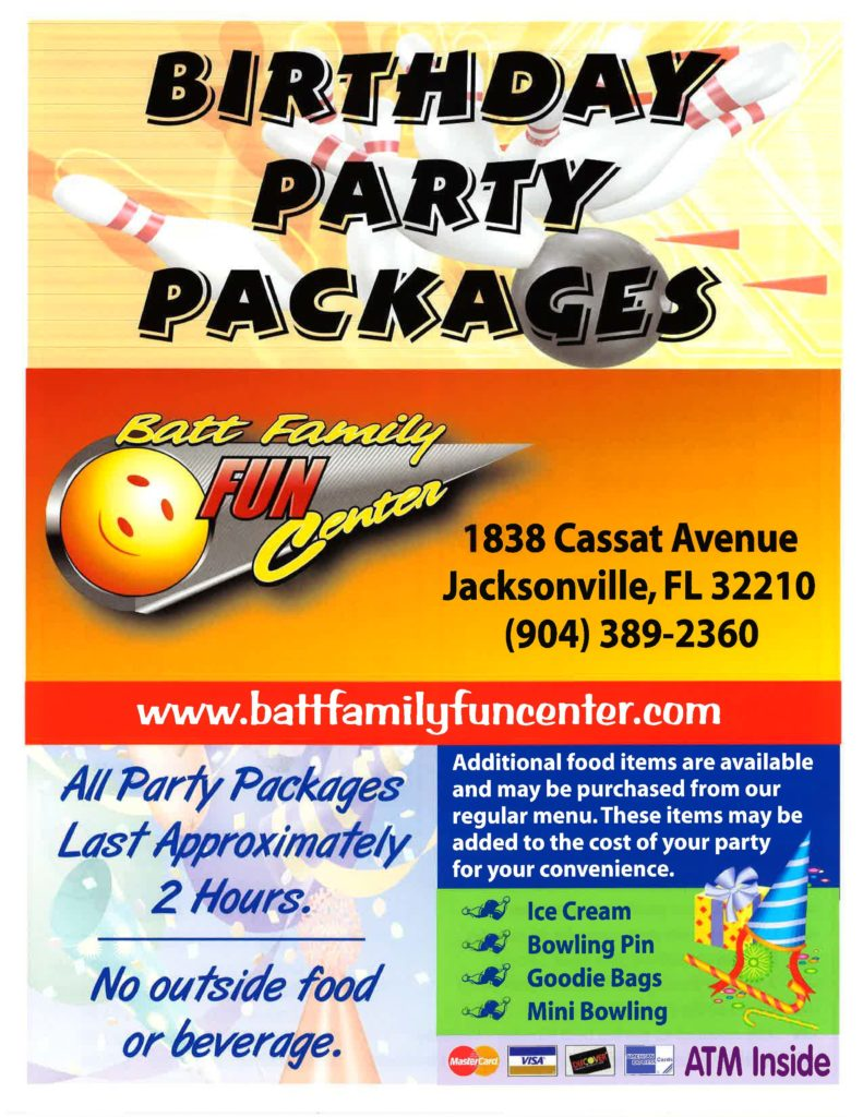 Birthday Party Package flyer page 1